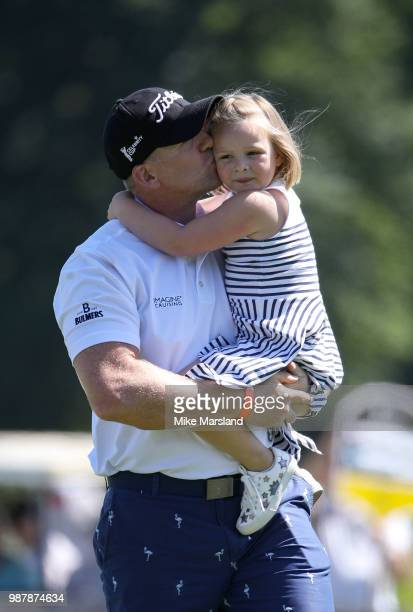 Mike Tindall and Mia Tindall during the 2018 'Celebrity Cup' at Celtic Manor Resort on June 30 2018 in Newport Wales