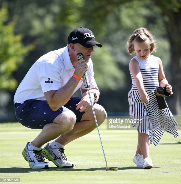 Mike Tindall and Mia Tindall during the 2018 'Celebrity Cup' at Celtic Manor Resort on June 30, 2018 in Newport, Wales.