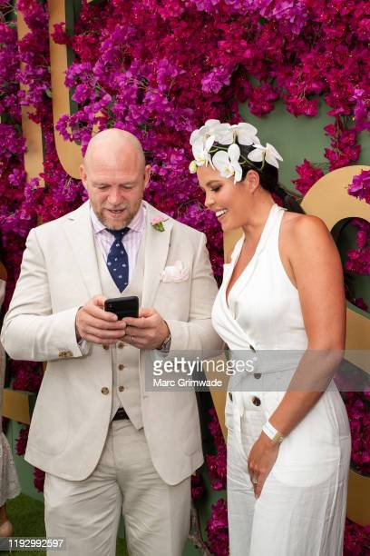 Mike Tindall and Nicole Slater attend the Moet Marquee Magic Millions Raceday at the Gold Coast Turf Club on January 11, 2020 in Gold Coast,...