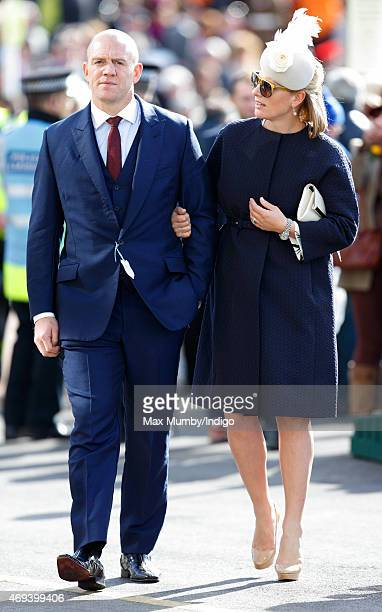 Mike Tindall and Zara Phillips attend day 3 'Grand National Day' of the Crabbie's Grand National Festival at Aintree Racecourse on April 11 2015 in...