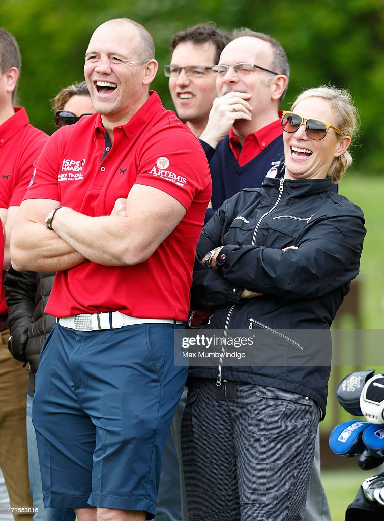 Mike Tindall and Zara Phillips attend the ISPS Handa Mike Tindall 3rd Annual Celebrity Golf Classic at the Grove Hotel on May 8, 2015 in Hertford, England.