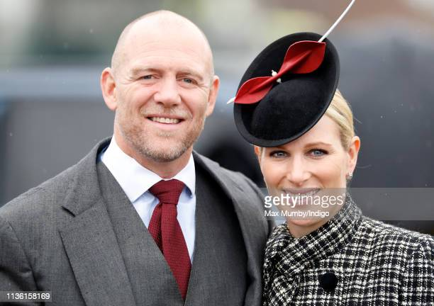 Mike Tindall and Zara Tindall attend day 4 'Gold Cup Day' of the Cheltenham Festival at Cheltenham Racecourse on March 15 2019 in Cheltenham England