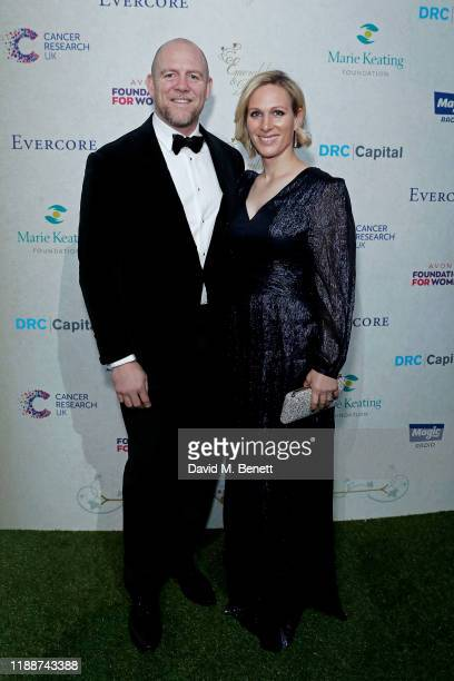 Mike Tindall and Zara Tindall attend the 13th annual Emeralds & Ivy Ball in partnership with Cancer Research UK and The Marie Keating Foundation at...