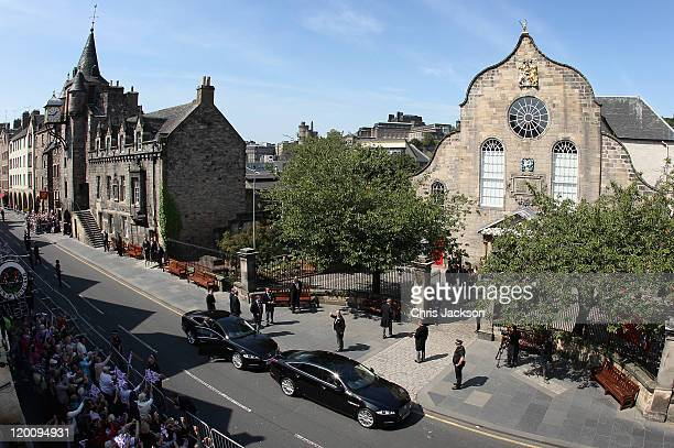 Mike Tindall arrives at Canongate Kirk on the afternoon of his wedding to Zara Philips on July 30, 2011 in Edinburgh, Scotland. The Queen's...