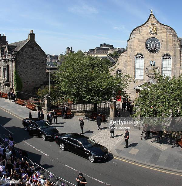 Mike Tindall arrives at Canongate Kirk on the afternoon of the wedding of Mike Tindall and Zara Philips on July 30, 2011 in Edinburgh, Scotland. The...