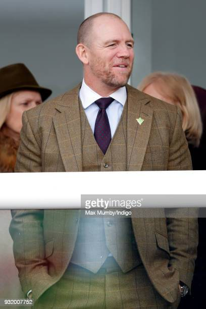 Mike Tindall attends day 1 'Champion Day' of the Cheltenham Festival at Cheltenham Racecourse on March 13 2018 in Cheltenham England