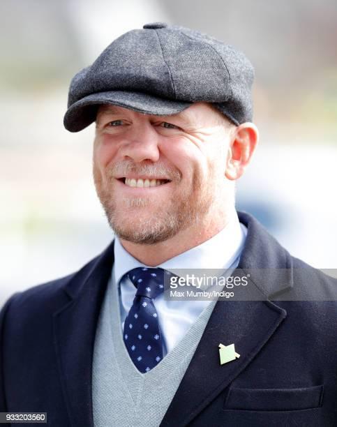 Mike Tindall attends day 3 'St Patrick's Thursday' of the Cheltenham Festival at Cheltenham Racecourse on March 15 2018 in Cheltenham England