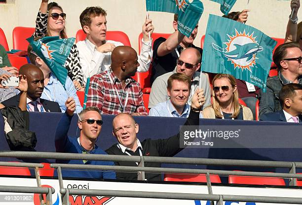 Mike Tindall attends the NFL International fixture as the New York Jets compete against the Miami Dolphins at Wembley Stadium on October 4 2015 in...