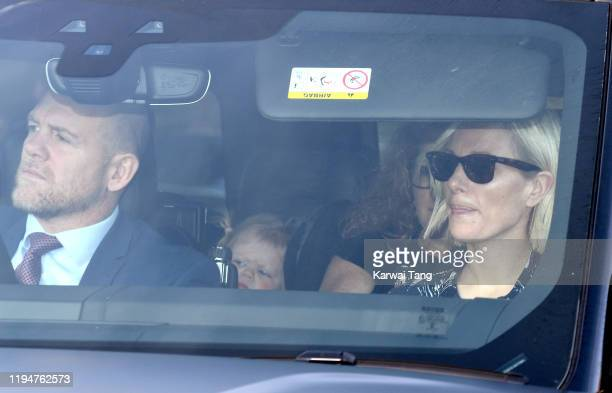 Mike Tindall, Lena Elizabeth Tindall and Zara Tindall attend Christmas Lunch at Buckingham Palace on December 18, 2019 in London, England.