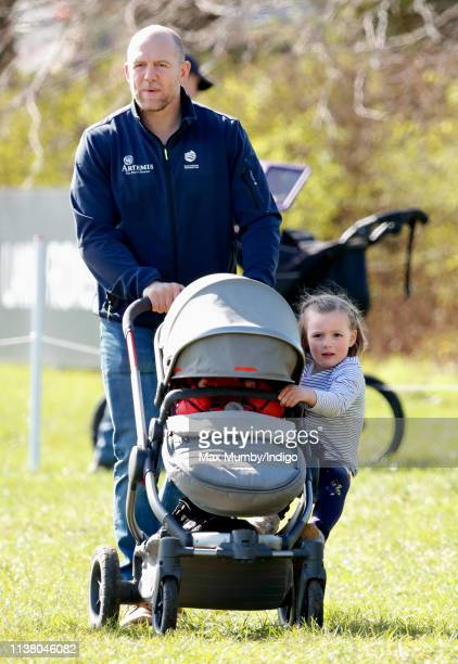 Mike Tindall Lena Tindall and Mia Tindall attend the Gatcombe Horse Trials at Gatcombe Park on March 24 2019 in Stroud England