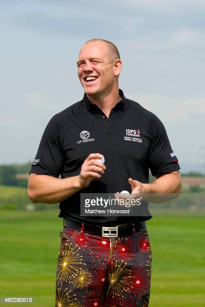 Mike Tindall smiles during the Mike Tindall Celebrity Golf Classic in support of Rugby for Heroes and the On Course Foundation at Celtic Manor Resort...