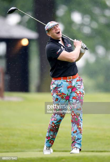 Mike Tindall takes part in the 5th edition of the 'ISPS Handa Mike Tindall Celebrity Golf Classic' at The Belfry on May 19 2017 in Sutton Coldfield...