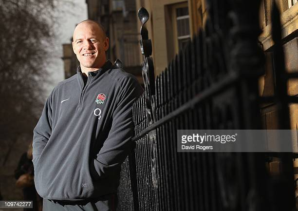 Mike Tindall the England captain poses after the media briefing on March 3 2011 in Oxford England