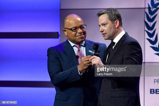 Mike Tirico and Ryan Odom attend the Team USA Awards at the Duke Ellington School of the Arts on April 26 2018 in Washington DC