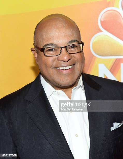 Mike Tirico at the NBCUniversal Summer TCA Press Tour at The Beverly Hilton Hotel on August 3, 2017 in Beverly Hills, California.