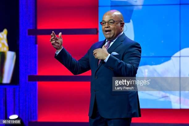 Mike Tirico attends the Team USA Awards at the Duke Ellington School of the Arts on April 26, 2018 in Washington, DC.