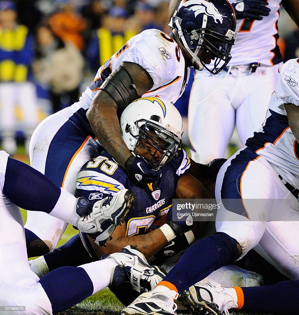 San Diego Chargers Denver Broncos Score: Mike Tolbert Of The San Diego Chargers Scores A Touchdown