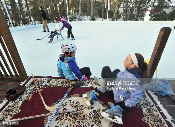 Mike Topchick and his family have a backyard ice rink at their Scarborough home and can be found using it almost daily Amy Topchick and her cousin...