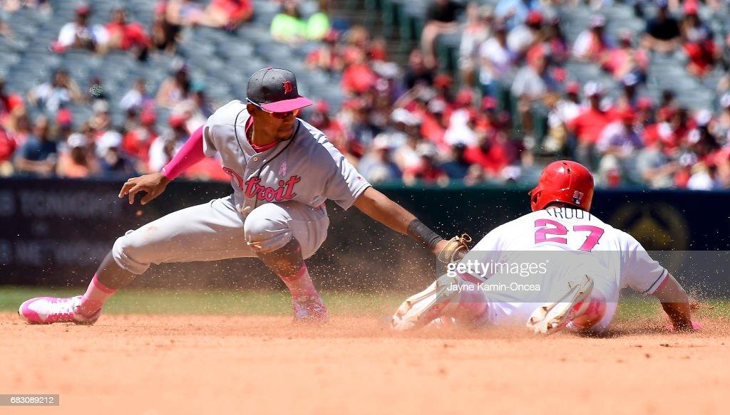 Detroit Tigers v Los Angeles Angels of Anaheim : News Photo