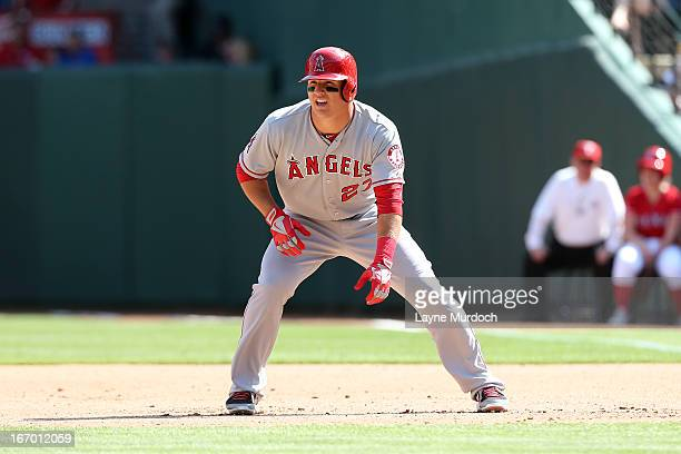 Mike Trout of the Los Angeles Angels of Anaheim runs the bases against the Texas Rangers on April 6 2013 at the Rangers Ballpark in Arlington Texas