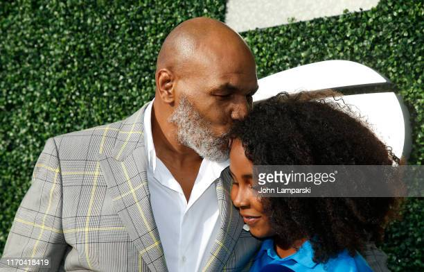 Mike Tyson and daughter Milan Tyson attend USTA 19th Annual Opening Night Gala Blue Carpet at USTA Billie Jean King National Tennis Center on August...