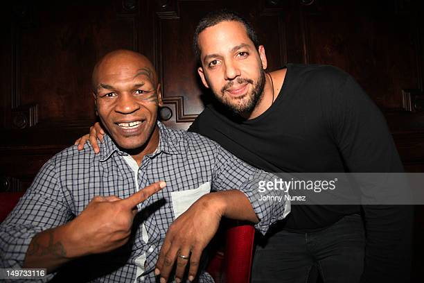 Mike Tyson and David Blaine attend 'Mike Tyson Undisputed Truth' Broadway Opening Night at Longacre Theatre on August 2 2012 in New York City
