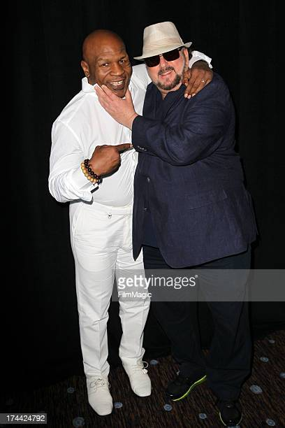Mike Tyson and filmmaker James Toback attend the HBO portion of the 2013 Summer Television Critics Association tour at the Beverly Hilton Hotel on...
