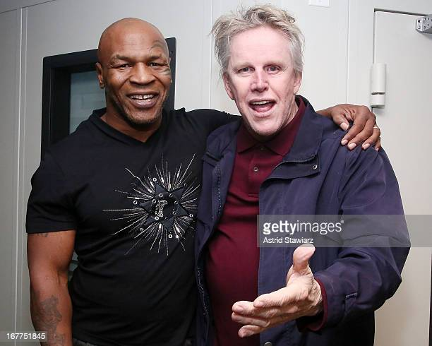Mike Tyson and Gary Busey visit the SiriusXM Studios on April 29 2013 in New York City