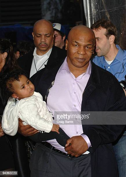 Mike Tyson and his daughter Milan arriving at Spike TV's 7th Annual Video Game Awards at Nokia Theatre LA Live on December 12 2009 in Los Angeles...