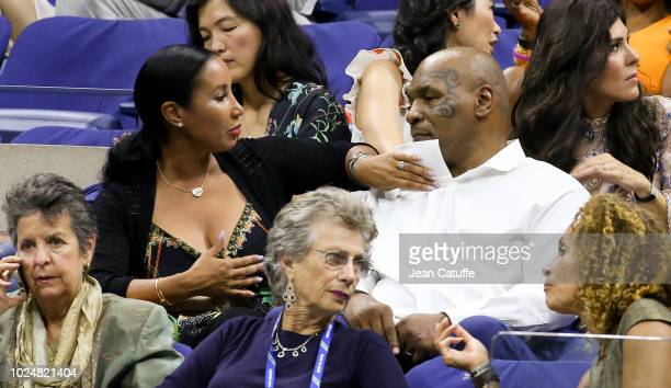 Mike Tyson and his wife Lakiha Spicer attend the opening night gala of the 2018 tennis US Open held at Arthur Ashe stadium of the USTA Billie Jean...