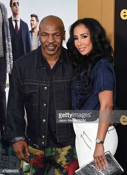 """Mike Tyson and Lakiha Spicer attend the premiere of Warner Bros. Pictures' """"Entourage"""" at Regency Village Theatre on June 1, 2015 in Westwood,..."""