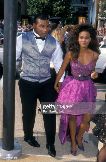 Mike Tyson and Robin Givens attend 40th Annual Primetime Emmy Awards on August 28 1988 at the Pasadena Civic Auditorium in Pasadena California