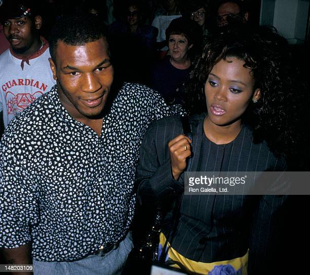 Mike Tyson and Robin Givens attend the performance of Speed the Plow on July 15 1988 at the Royale Theater in New York City