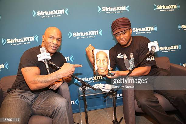Mike Tyson and Sway Calloway invade 'The Whoolywood Shuffle' at SiriusXM Studios on November 13 2013 in New York City