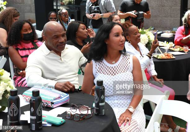 """Mike Tyson and wife Lakiha """"Kiki"""" Spicer attend the 100 Women Matter Luncheon hosted by We2Matter and Dream Corps JUSTICE at Tyson Ranch on May 08,..."""