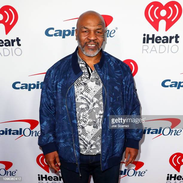 Mike Tyson arrives at the 2019 iHeartRadio Podcast Awards Presented by Capital One at the iHeartRadio Theater LA on January 18 2019 in Burbank...