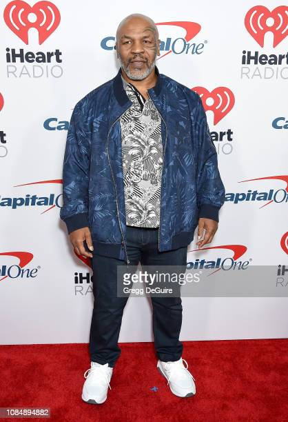 Mike Tyson arrives at the iHeartRadio Podcast Awards Presented By Capital One at iHeartRadio Theater on January 18 2019 in Burbank California