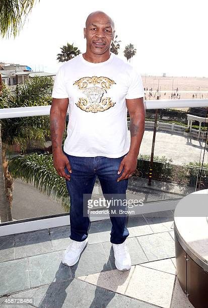 Mike Tyson attends The 2014 American Film Market at the Loews Santa Monica Beach Hotel on November 9 2014 in Santa Monica California