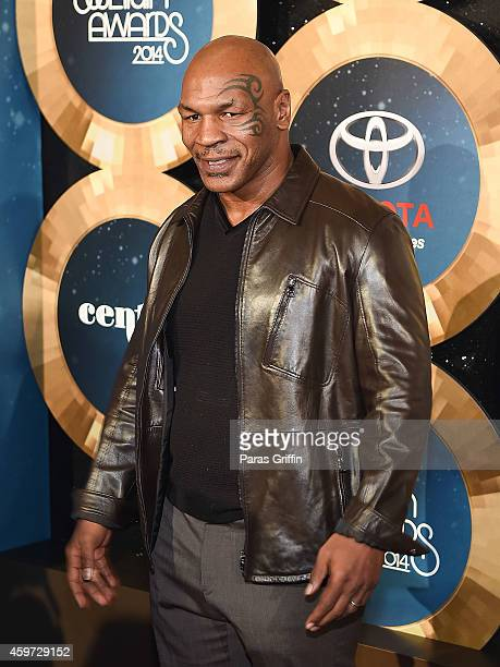 Mike Tyson attends the 2014 Soul Train Music Awards at the Orleans Arena on November 7 2014 in Las Vegas Nevada