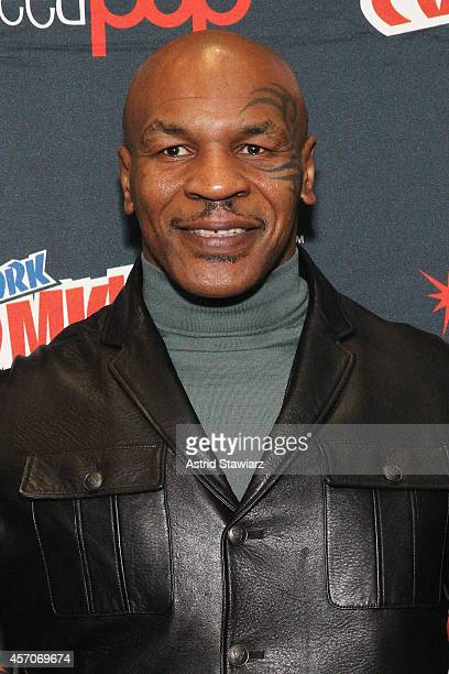 Mike Tyson attends The Adult Swim Mike Tyson Mysteries during Adult Swim At New York Comic Con 2014 at Jacob Javitz Center on October 11, 2014 in New...