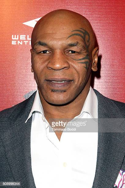 Mike Tyson attends the premiere of Well Go USA Entertainment's 'Ip Man 3' held at Pacific Theatres at The Grove on January 20 2016 in Los Angeles...
