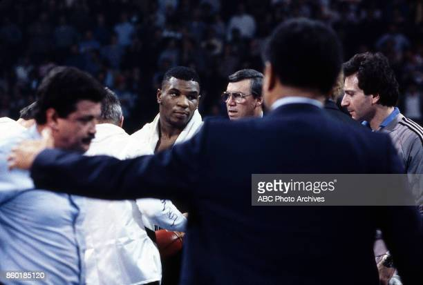 Mike Tyson boxing at Houston Field House Feb 16 1986