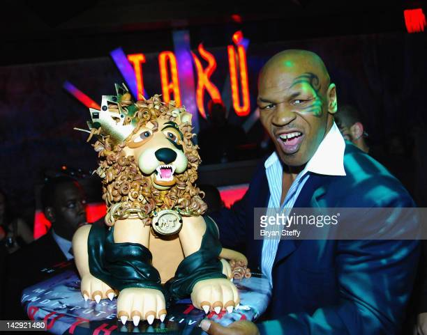 Mike Tyson celebrates the opening of his one man show 'Mike Tyson UNDISPUTED TRUTH Live on Stage' at the Tabu Ultra Lounge at the MGM Grand Hotel...