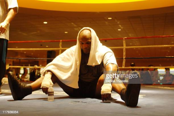 Mike Tyson during Iron Mike Tyson Starts Training Camp at Aladdin/Planet Hollywood Resort and Casino at Aladdin/Planet Hollywood Resort and Casino in...