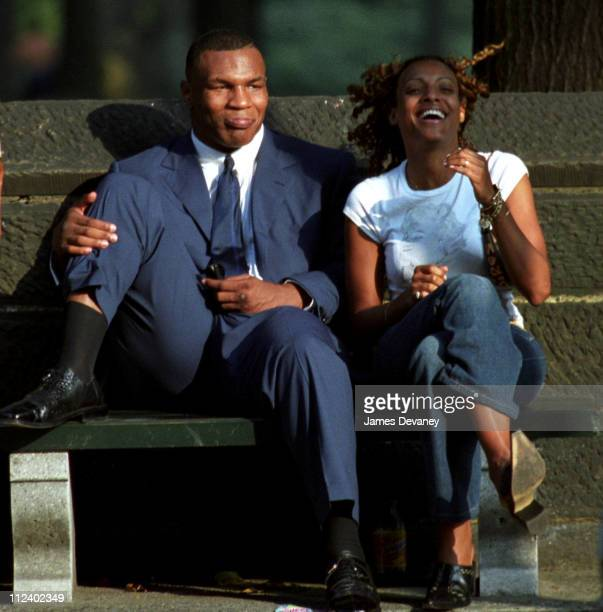 Mike Tyson during Mike Tyson Sighting on August 31 2001 at Central Park West in New York City New York United States