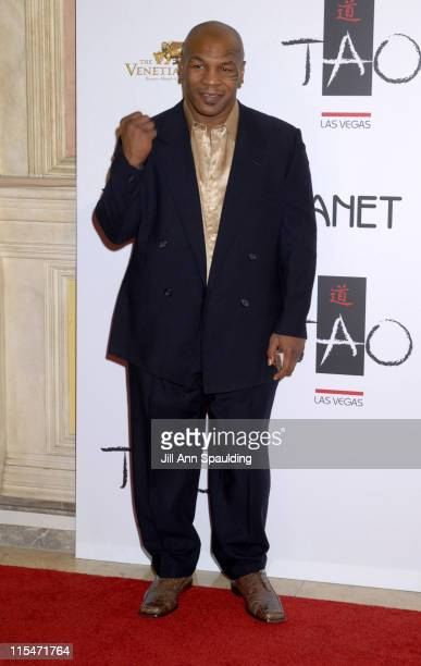 Mike Tyson during TAO Las Vegas First Anniversary Weekend Janet Jackson Album Release Party Red Carpet Arrivals at The Venetian Resort Hotel Casino...