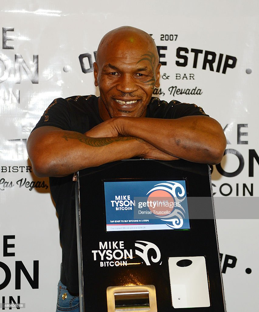 Mike Tyson during the Bitcoin Direct announcement of the first Tyson Bitcoin ATM at Off The Strip at The LINQ on September 24, 2015 in Las Vegas, Nevada.