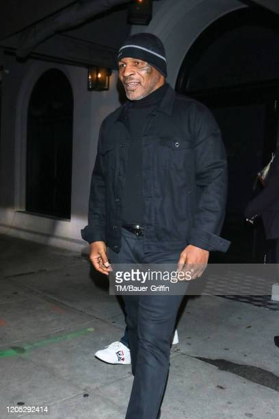 Mike Tyson is seen on March 04 2020 in Los Angeles California