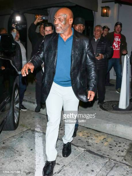 Mike Tyson is seen on March 11 2020 in Los Angeles California