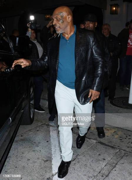 Mike Tyson is seen on March 12 2020 in Los Angeles California